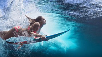 If you like water and surf you should definitely try the Underwater Surf theme on your homepage! The Underwater Surf theme comes with its own personalized color set!