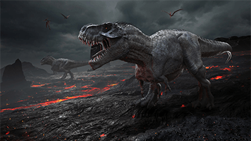 If you thought all dinosaurs were extinct, then you are wrong! We have one right here! Set the Dinosaur theme on your homescreen and you'll experience the dark era when fierce creatures ruled the earth.