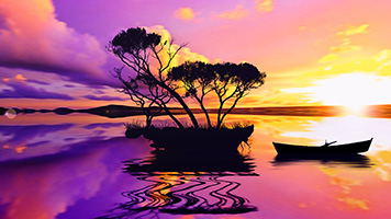 Admire the sunset with the Purple Sunset wallpaper. Get this super colorful and free Purple Sunset wallpaper on your computer now!