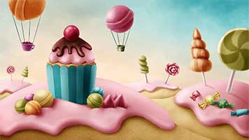 Everything is simply delicious in Candy Land! From trees to the houses, everything is edible! So set this sweet Candy Land theme and don't worry about the calories, there are no restriction here!