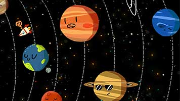 Have you ever thought planets can be cute? If not we've got the theme that will change your mind! Try the Cute Planets theme on your homepage and you'll see how cute planets can be.