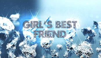 What are diamonds? Girl's best friend, obviously! Try this free Girls Best Friend wallpaper and prepare for a fabulous day!