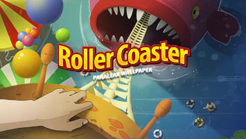 Take a ride in the most fun rollercoaster! Thrills and loads of fun guaranteed! But if you're too affraid of heights, just set the Rollercoaster parallax on your homescreen and enjoy the sights from your computer!