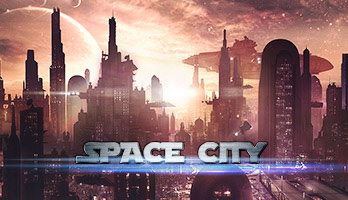 Future is here, let's take a trip to the space city! Explore the fantasy landscapes with the Space City parallax wallpaper and don't forget to always dream big!
