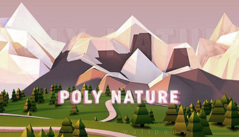 If you like nature and illustrations, then Poly Nature it's the ideal parallax for you! Get the Poly Nature wallpaper for free on your computer and enjoy the beautiful landscape!