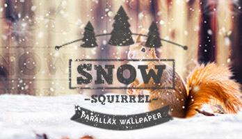 El paralaxi Ardilla en la nieve es perfecto para el invierno. ¡Puedes descargar gratis para la pantalla de inicio este fondo de pantalla Ardilla en la nieve con solo un clic!