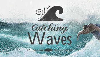 What's the surfer's favourite thing? Catching waves, of course! Get ready for action with the Catching Waves wallpaper and remember, no waves, no glory!