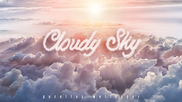 If you're having a rainy day, just remember that over the clouds there's always sun! So set the Cloudy Sky parallax on your homepage and hope for the best, the sun always shines brightest after the storm!
