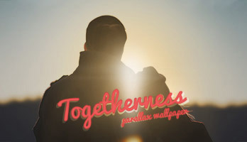 If you like mushy, lovey feely wallpapers, then get this free Togetherness wallpaper on your computer.