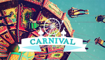 Enjoy the carnival fun with the Carnival wallpaper. Set it for free on your computer and let's go for a spin!